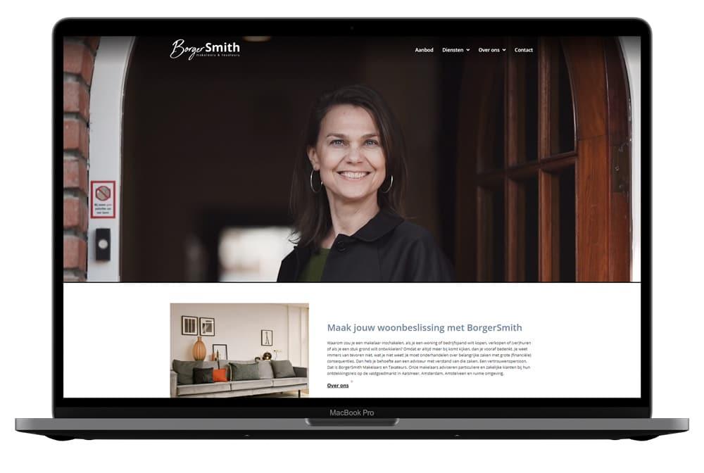 Mockup portfolio borgersmith homepage