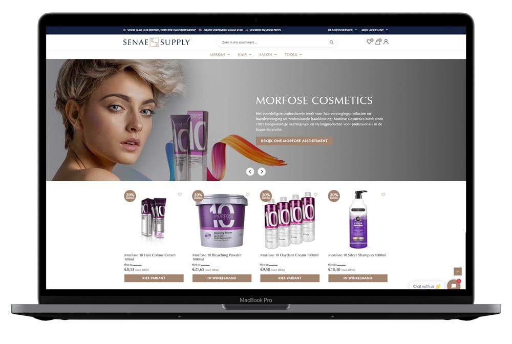 Mockup portfolio senae homepage